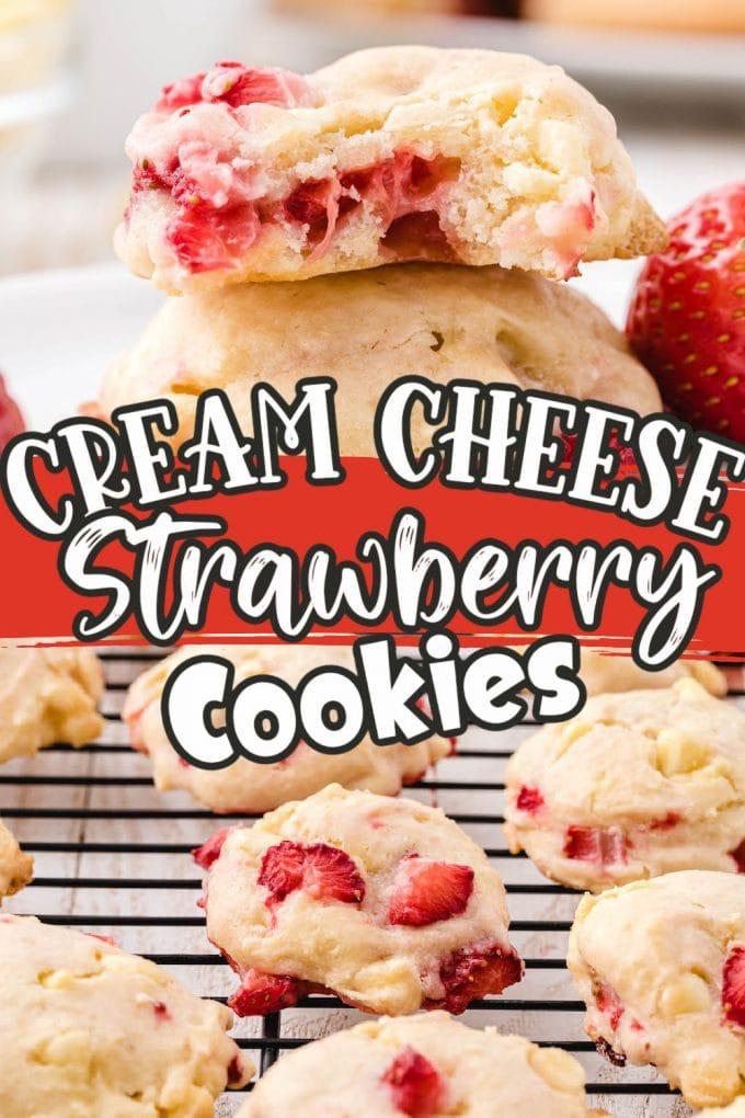 Strawberry Cream Cheese Cookies pinterest