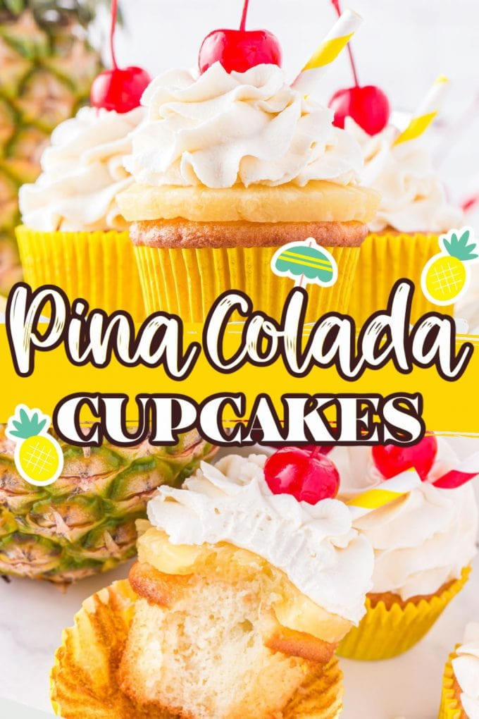 pina colada cupcakes pinterest 3