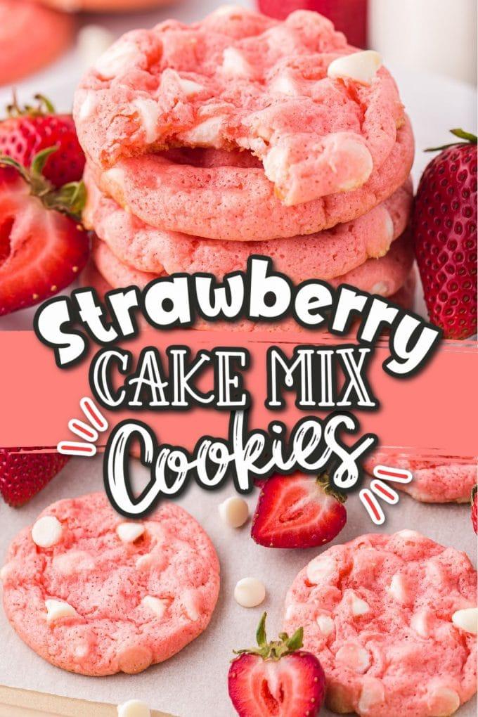 Strawberry Cake Mix Cookies Pinterest