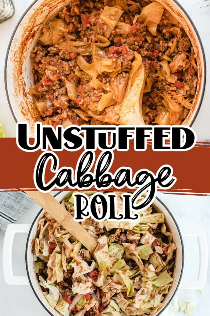 unstuffed cabbage roll Pinterest