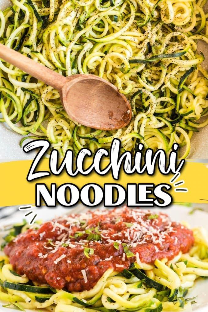zuccchini noodles pinterest