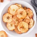 air fryer apple chips featured image