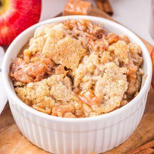 Air Fryer Apple Dump Cake feature image