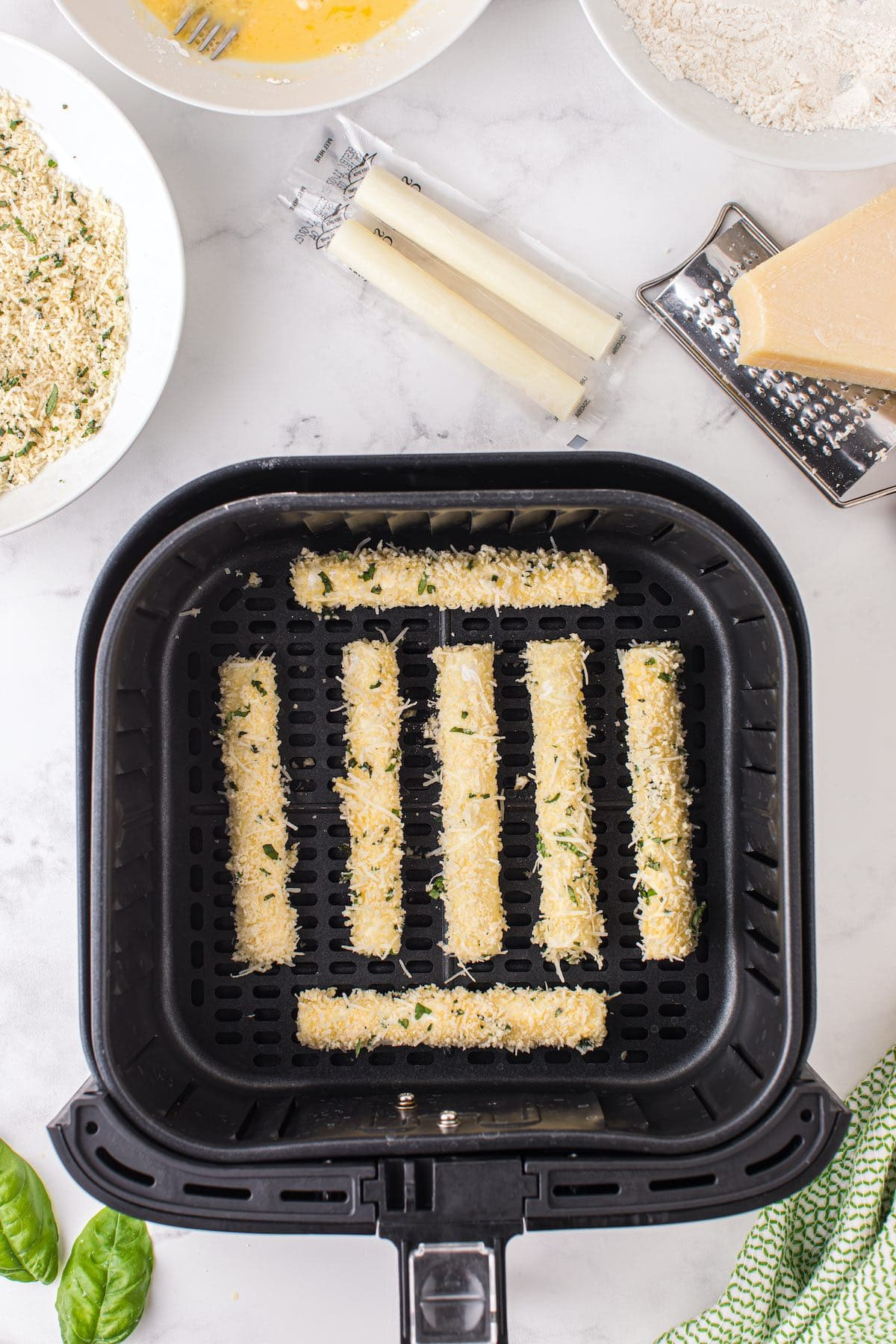 place the sticks in air fryer