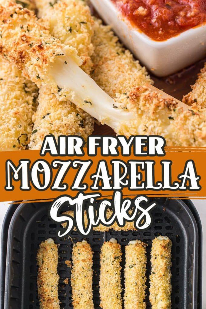 Air Fryer mozzarella sticks Pinterest