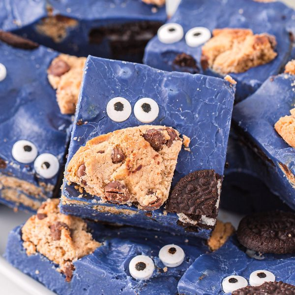 cookie monster fudge featured image