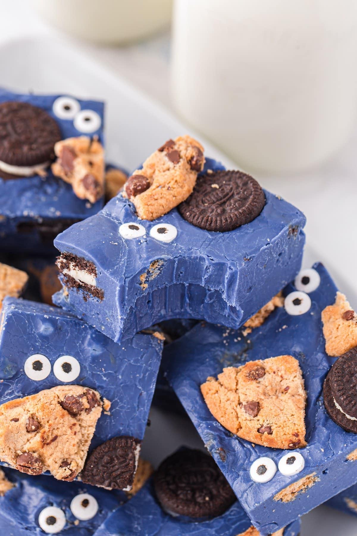bitten cookie monster fudge