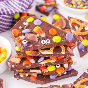 Halloween Candy Bark feature image