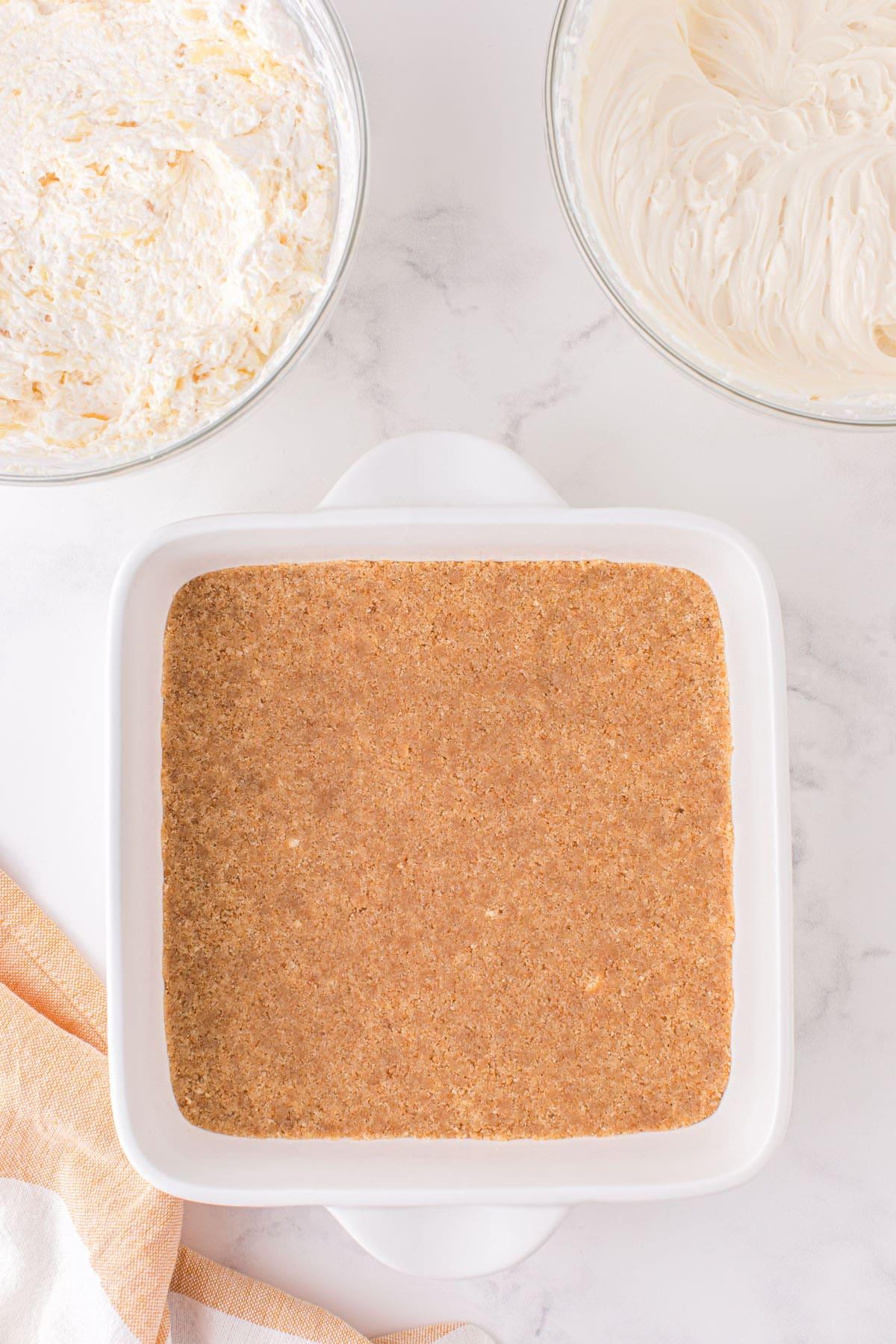 press mixture at the bottom of your baking pan