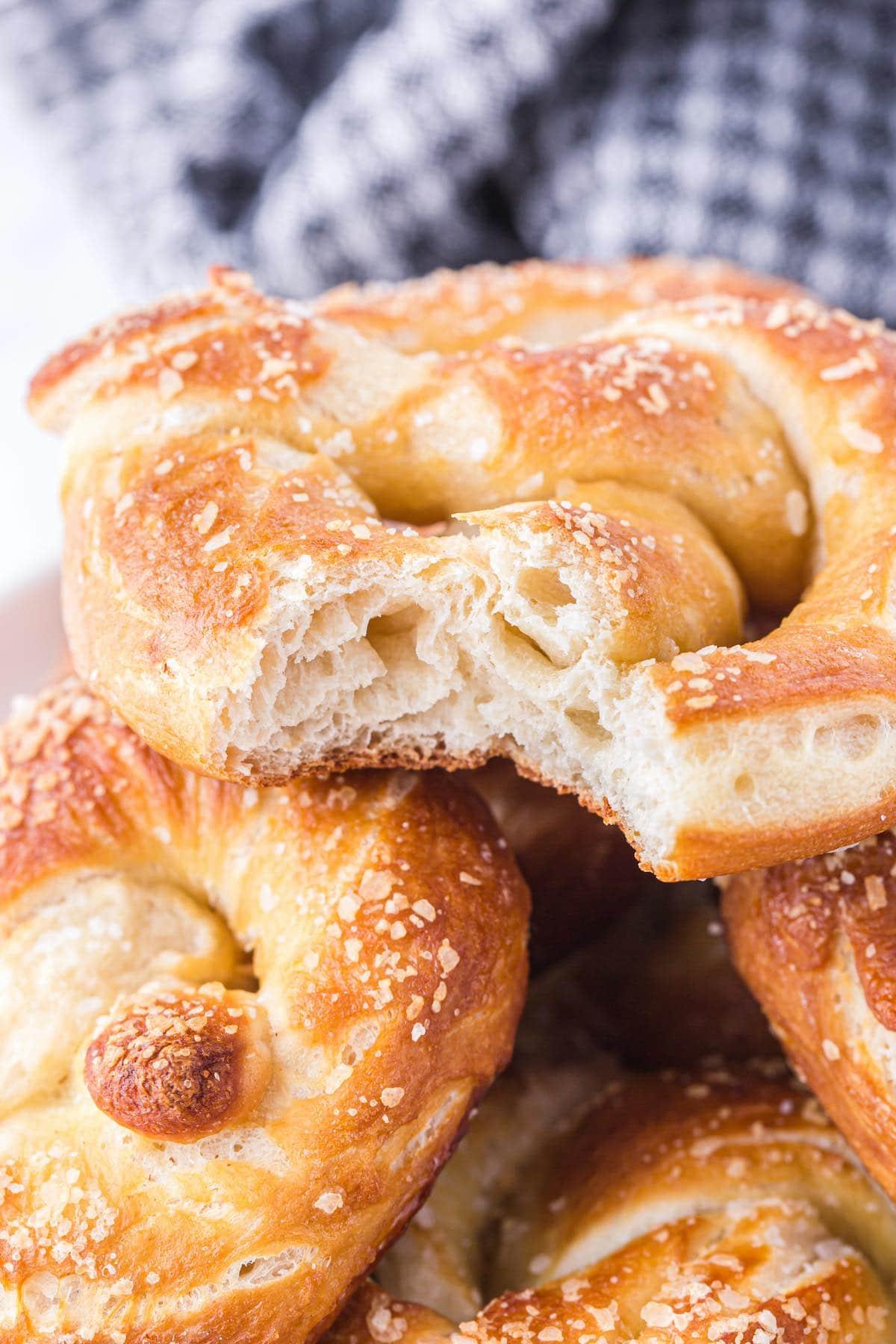bitten soft pretzels