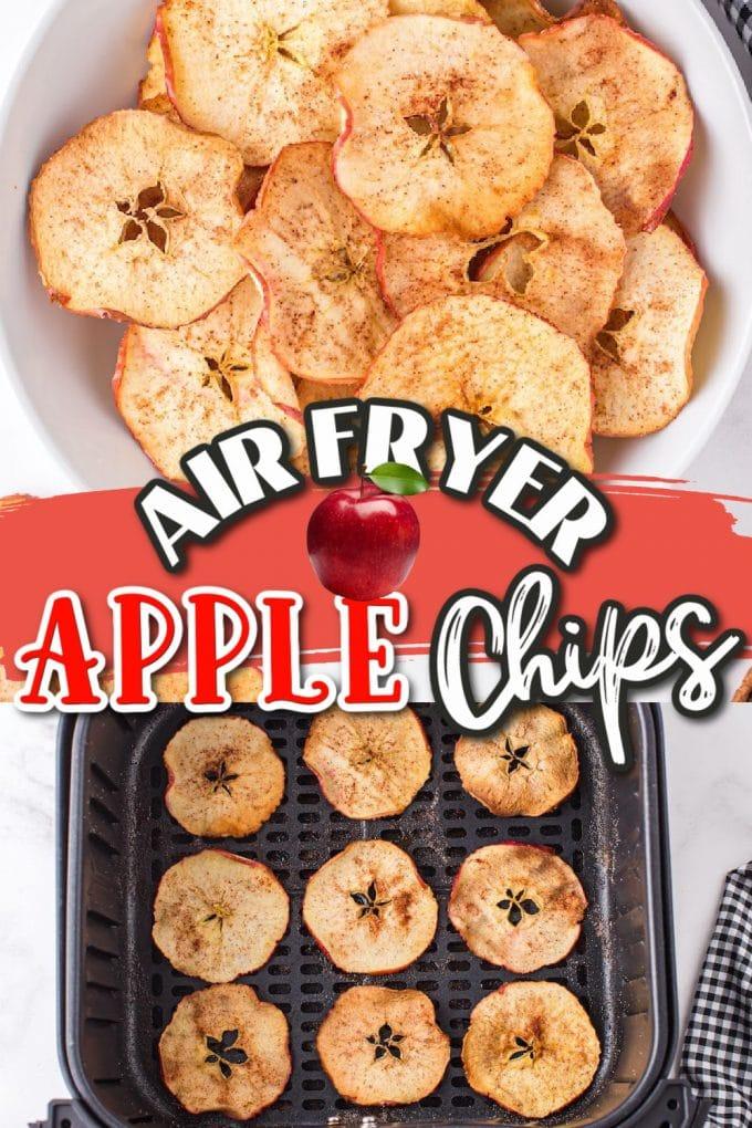 air fryer apple chips pinterest