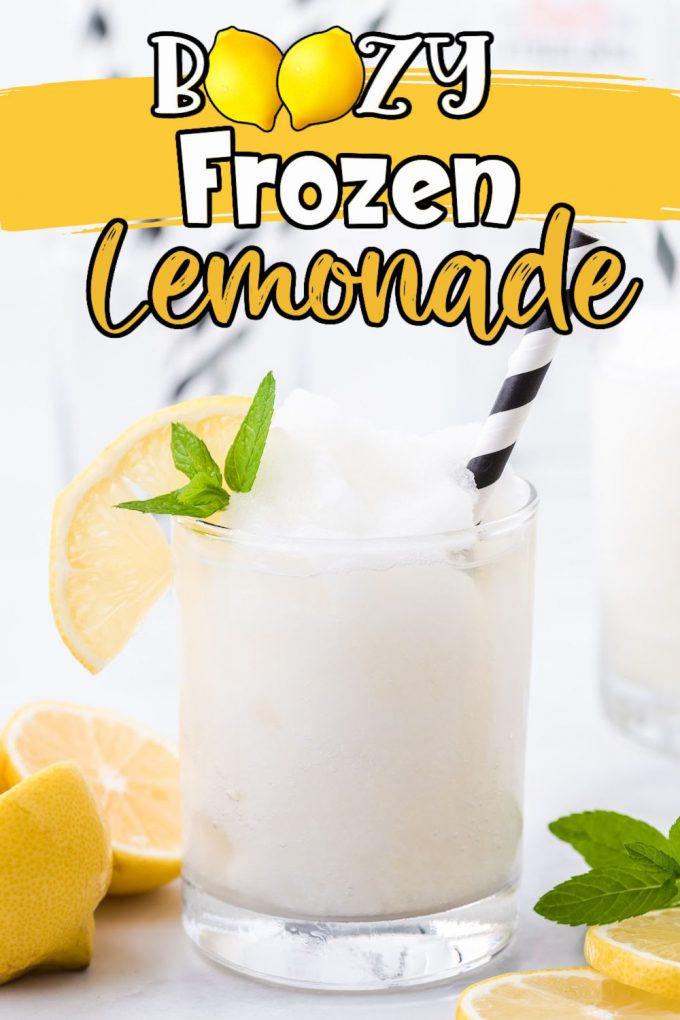 boozy frozen lemonade pinterest