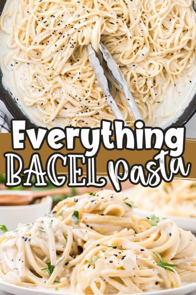 everything bagel pasta pinterest