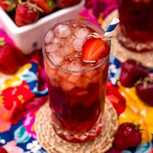 strawberry sweet tea featured image
