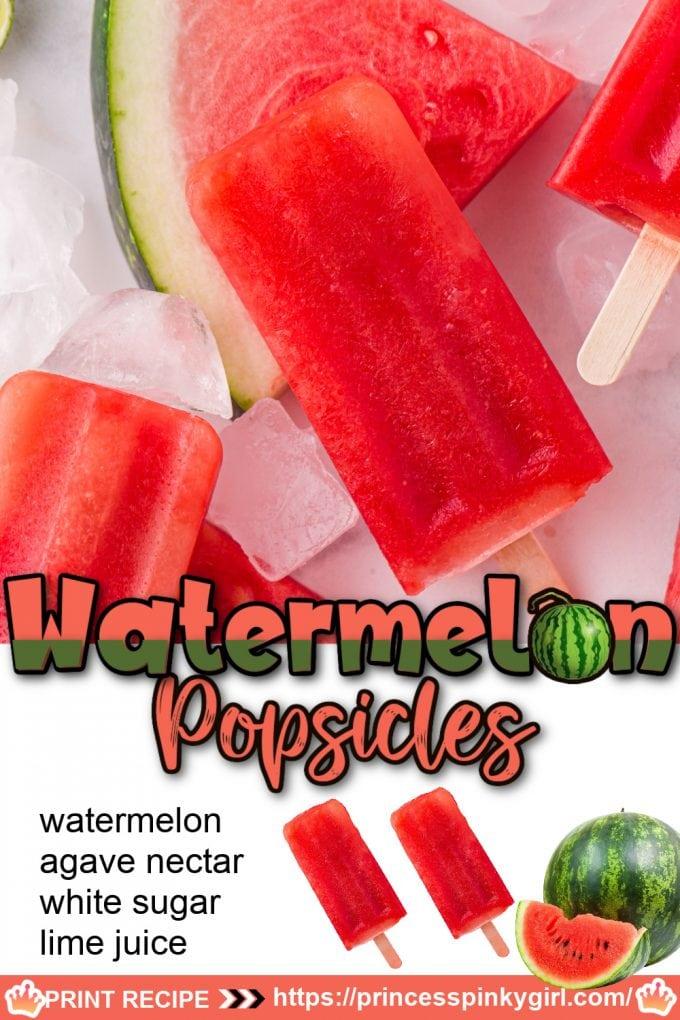 watermelon popsicles Pinterest