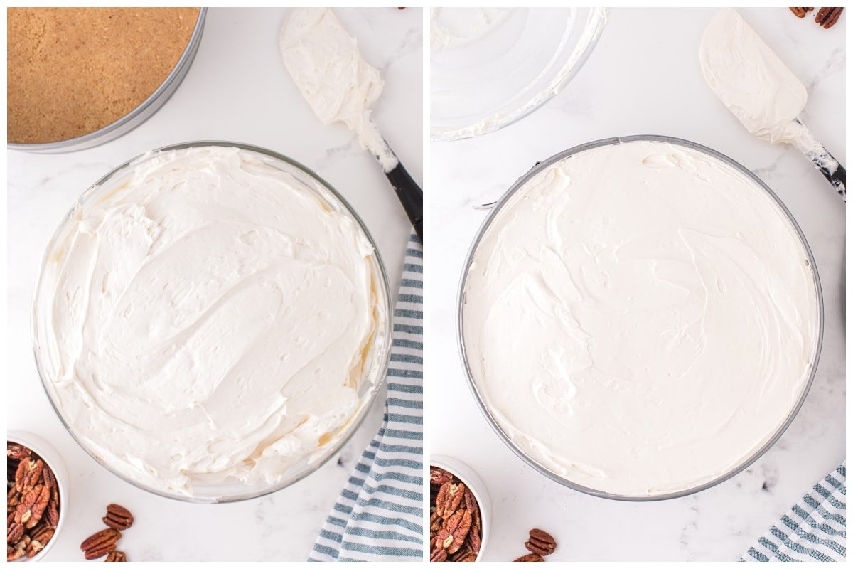 Fold in the whipped topping