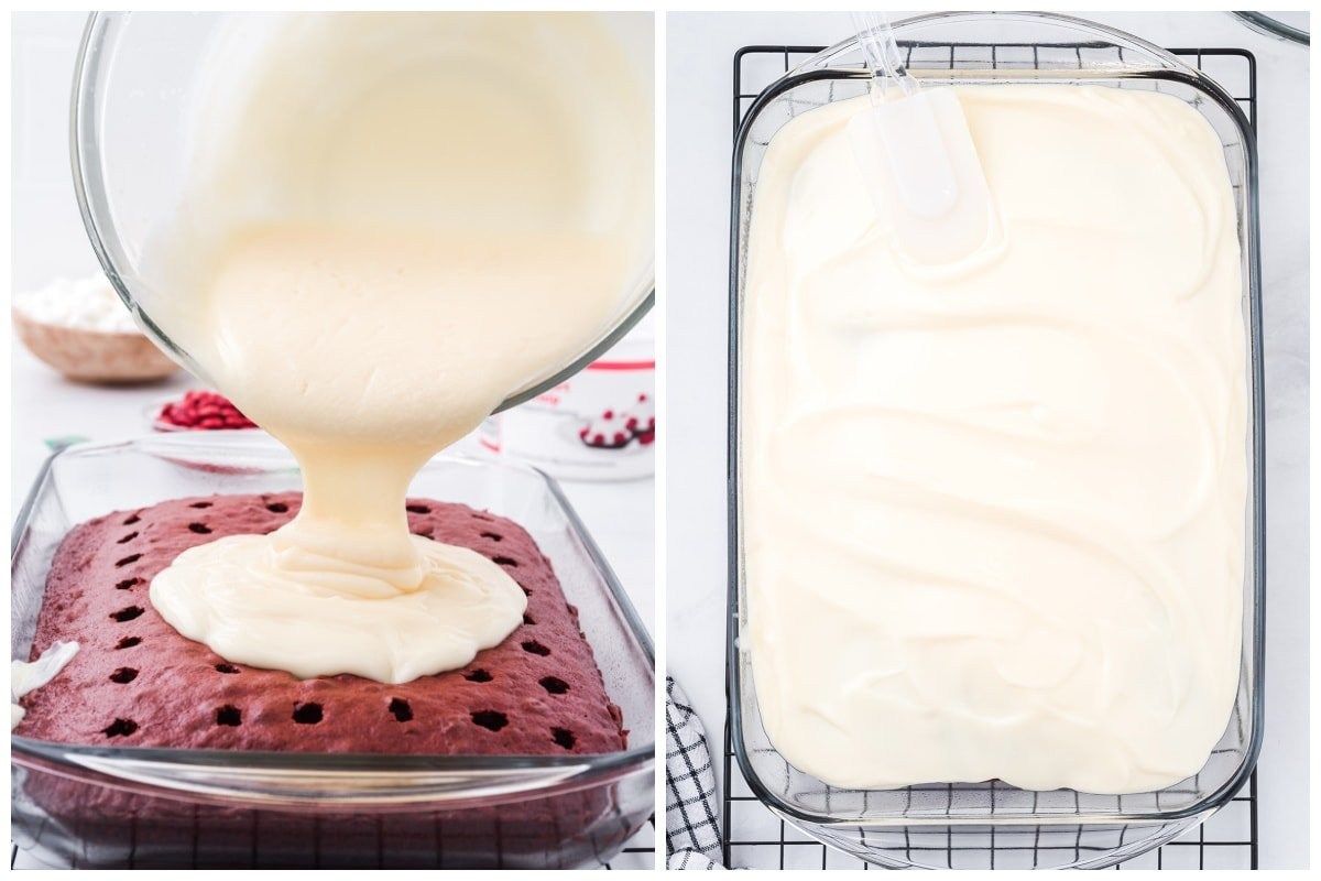 Whisk together pudding mixes with the milk
