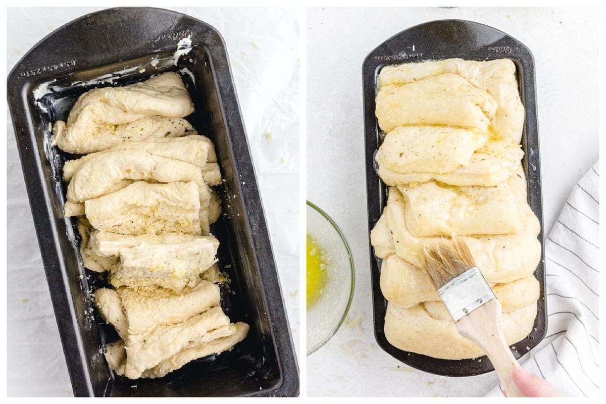 Cover the pan with a cloth and allow it to rise for about 2-3 hours