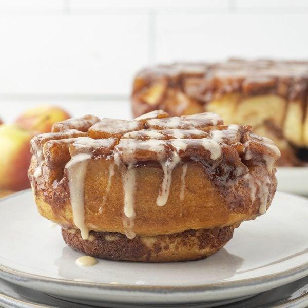 Upside Down Apple Pie Cinnamon Rolls feature image