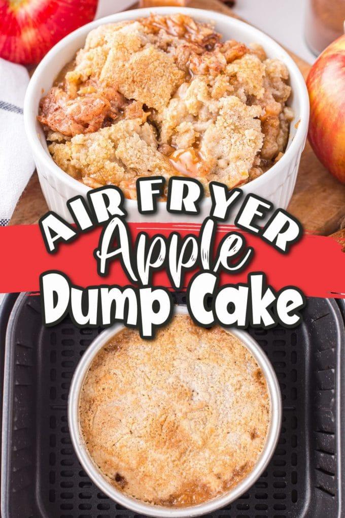 Air Fryer Apple Dump Cake Pinterest