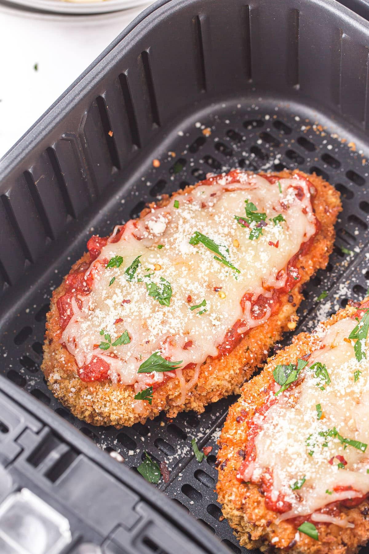 chicken parmesan inside air fryer