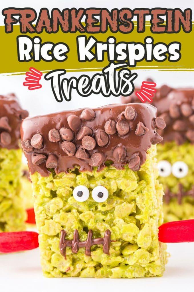 Frankenstein Rice Krispies Treats pinterest