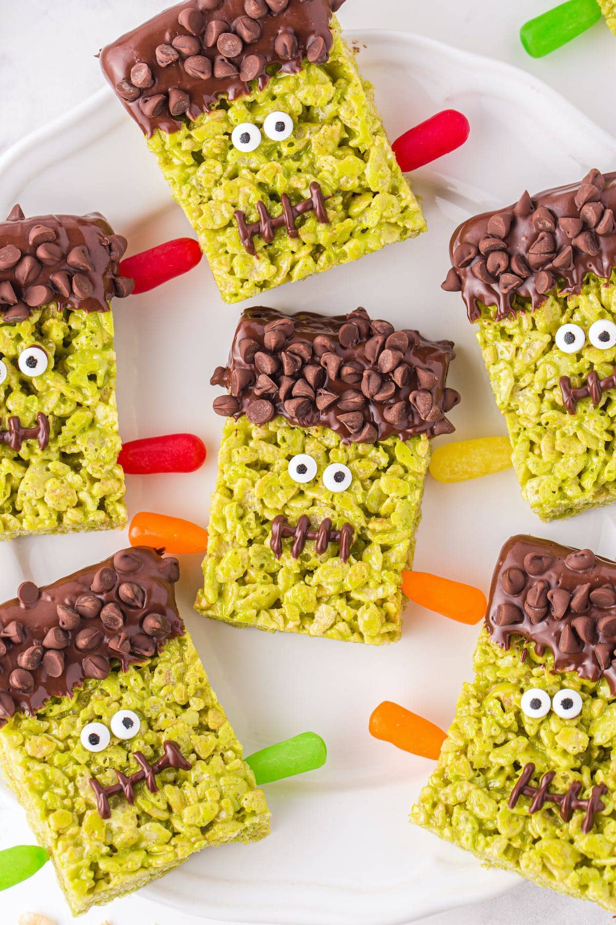 Frankenstein Rice Krispies Treats hero image