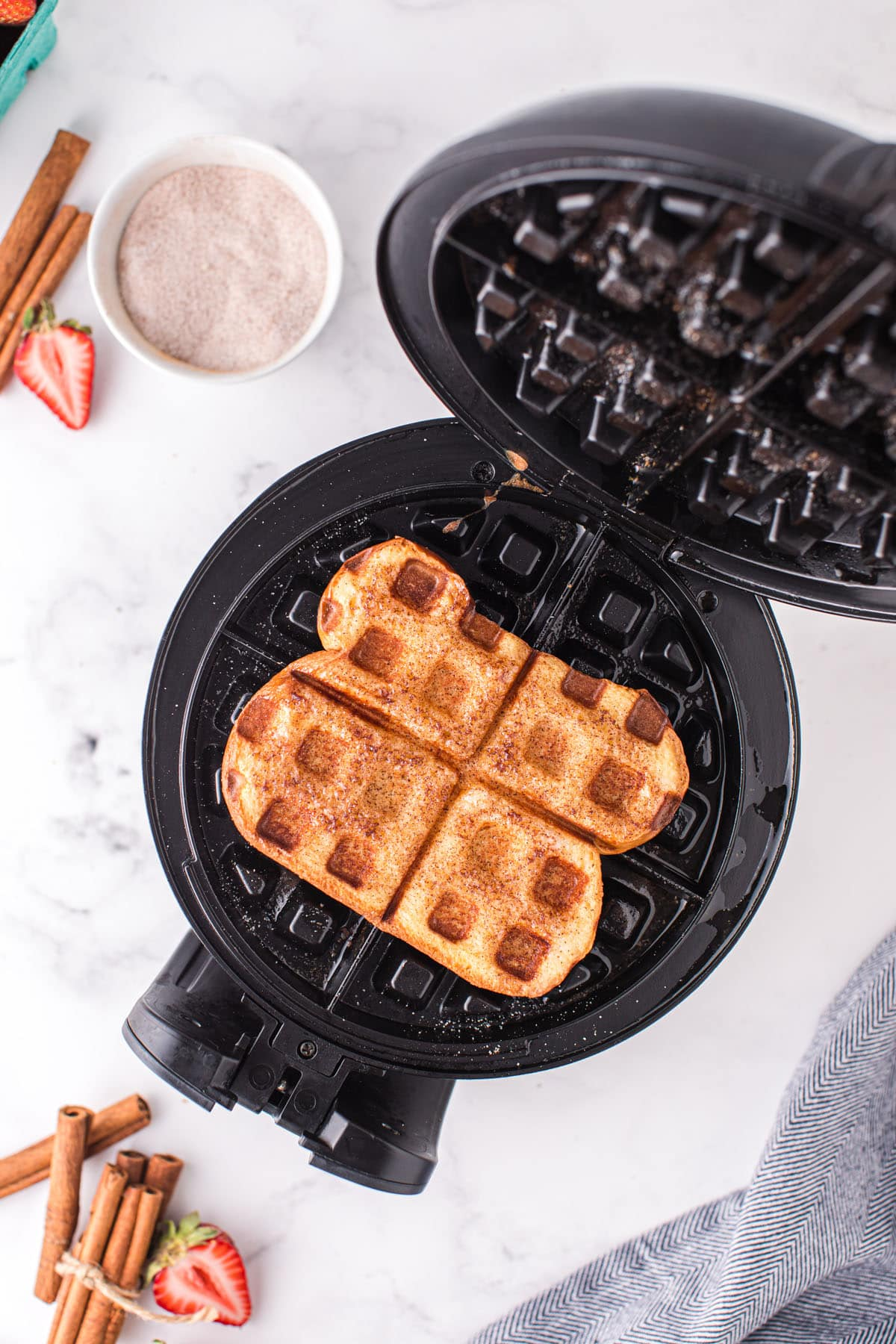 cooked french toast waffles