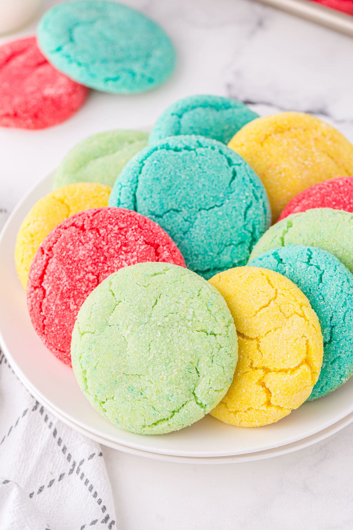 jello cookies on a plate