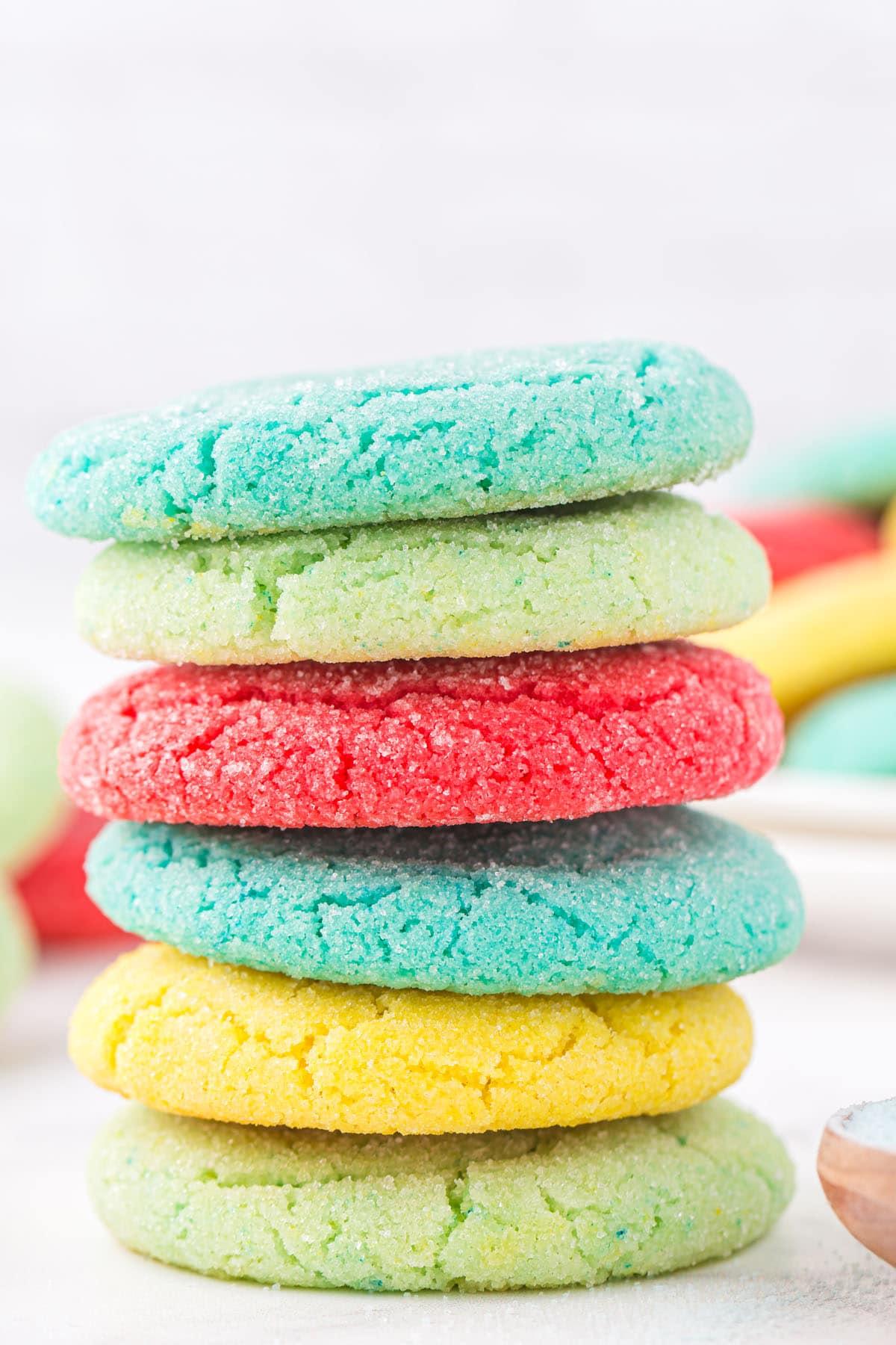 stacked jello cookies