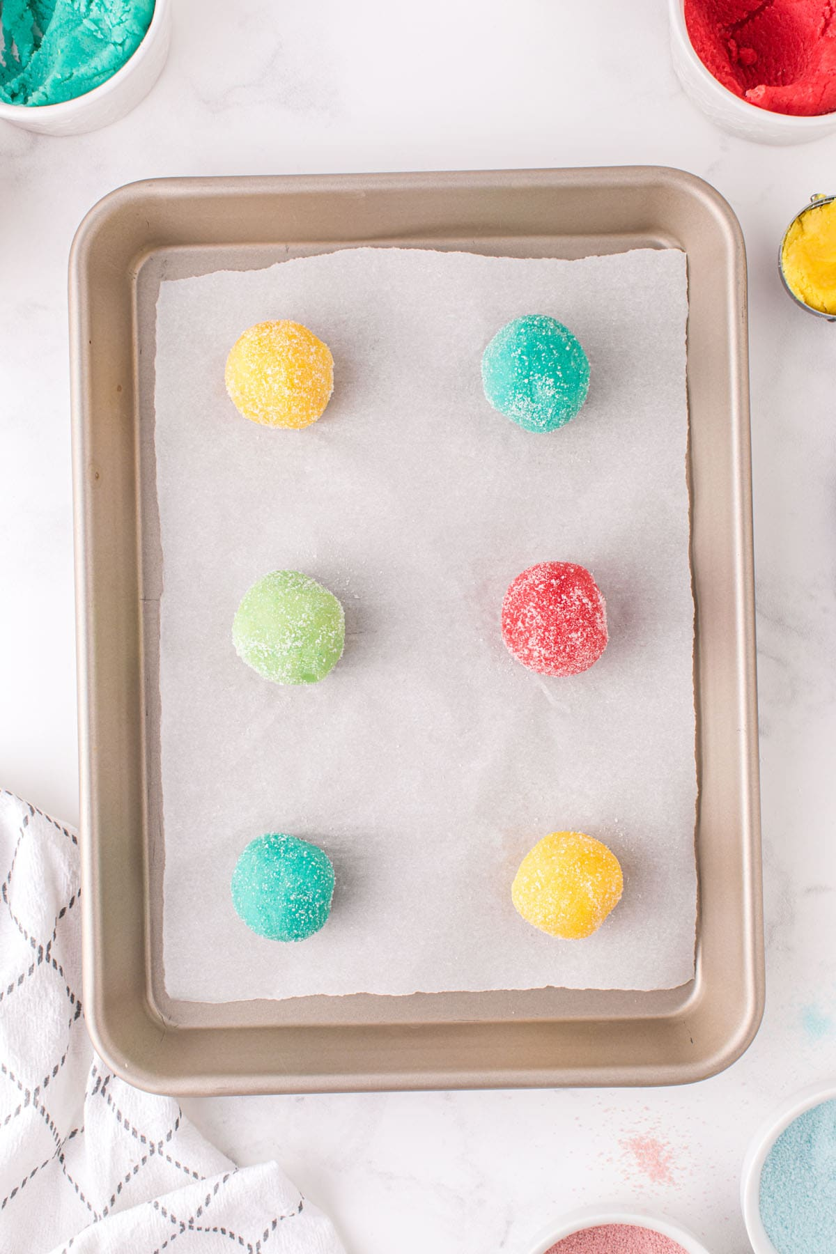 Place cookie dough on parchment lined sheet pan