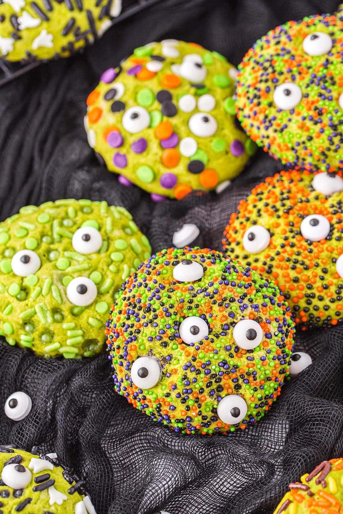 monster sprinkle cookies