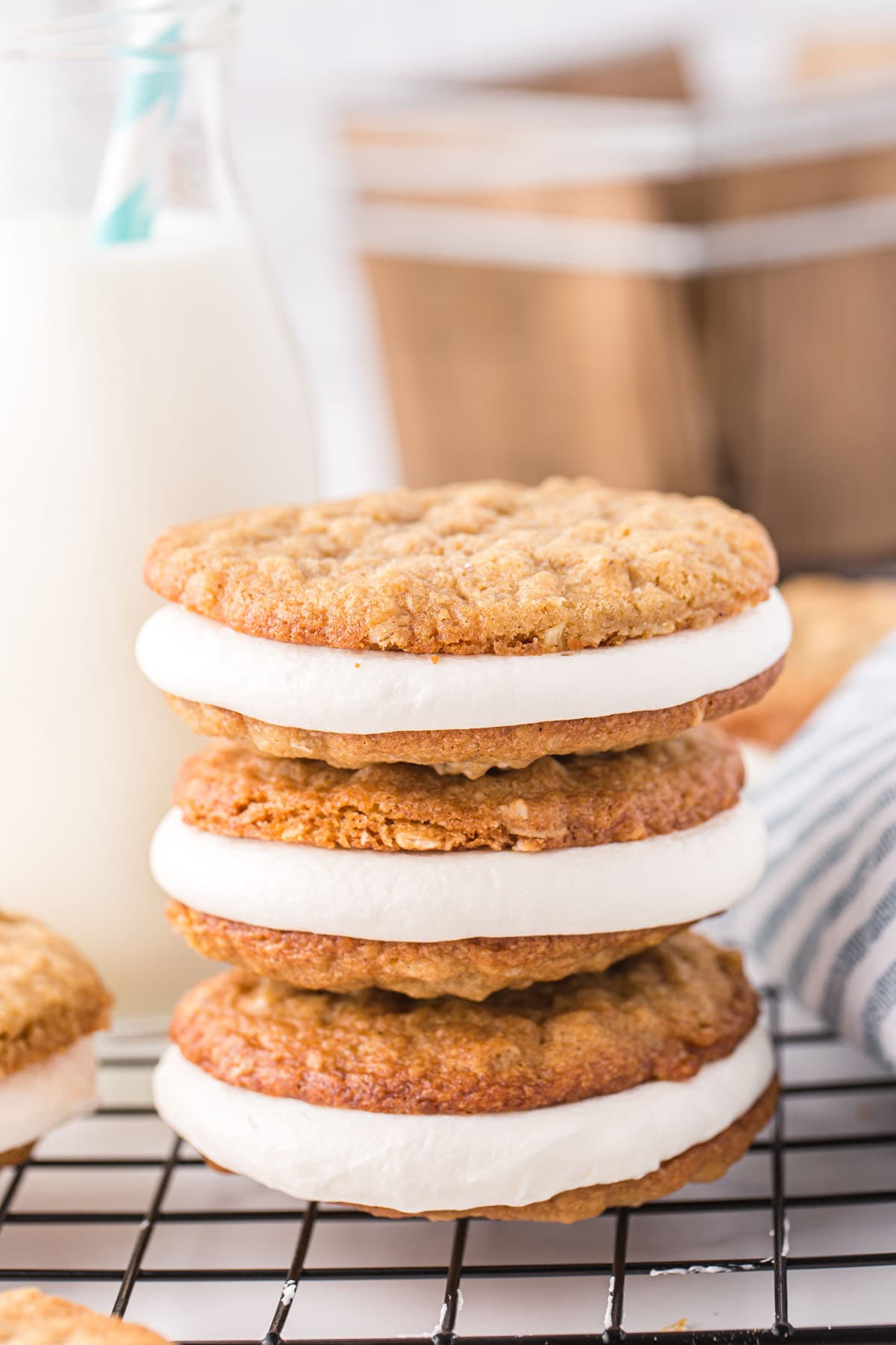 stacked oatmeal cream pie