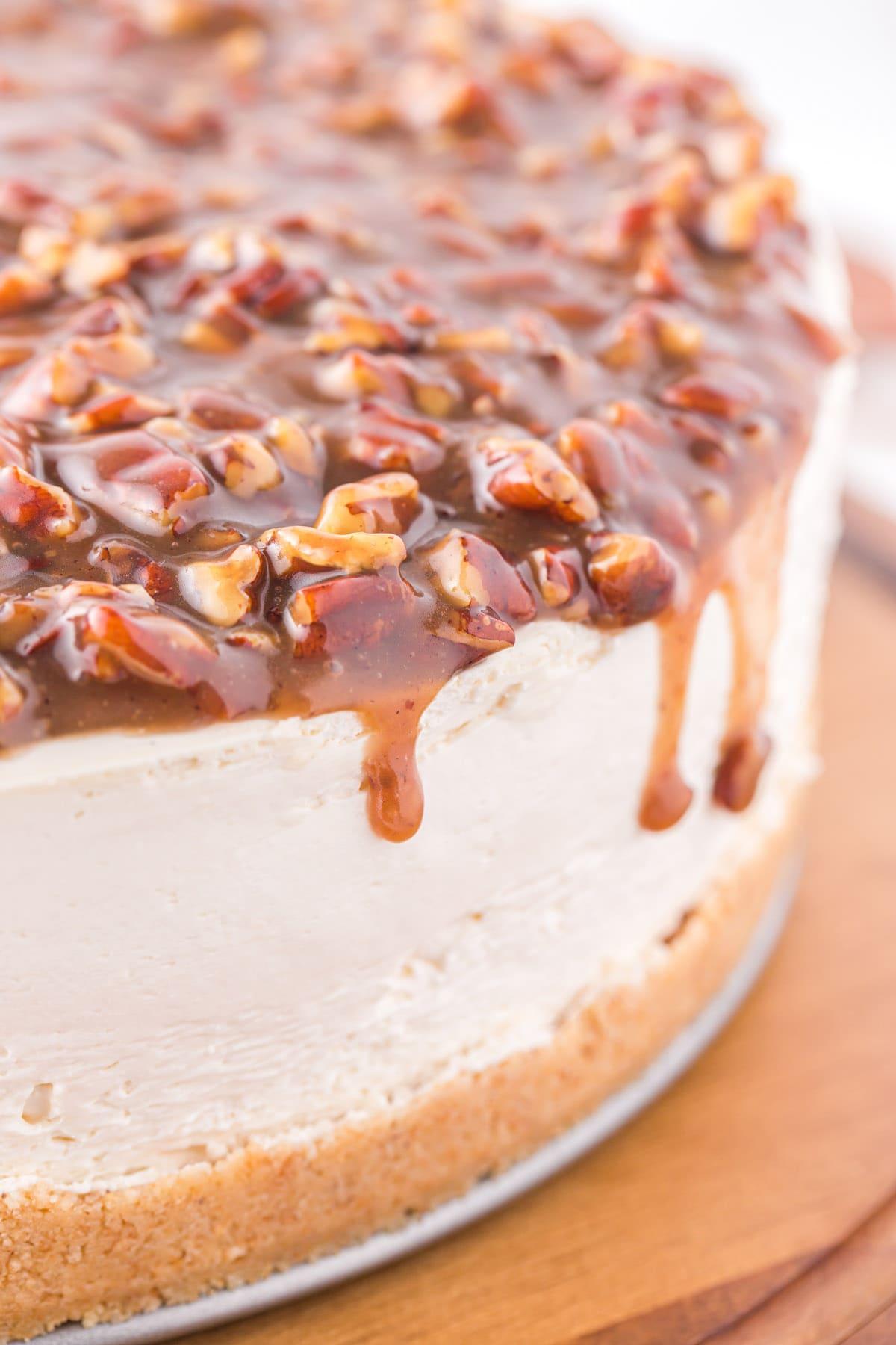 no bake pecan pie cheesecake