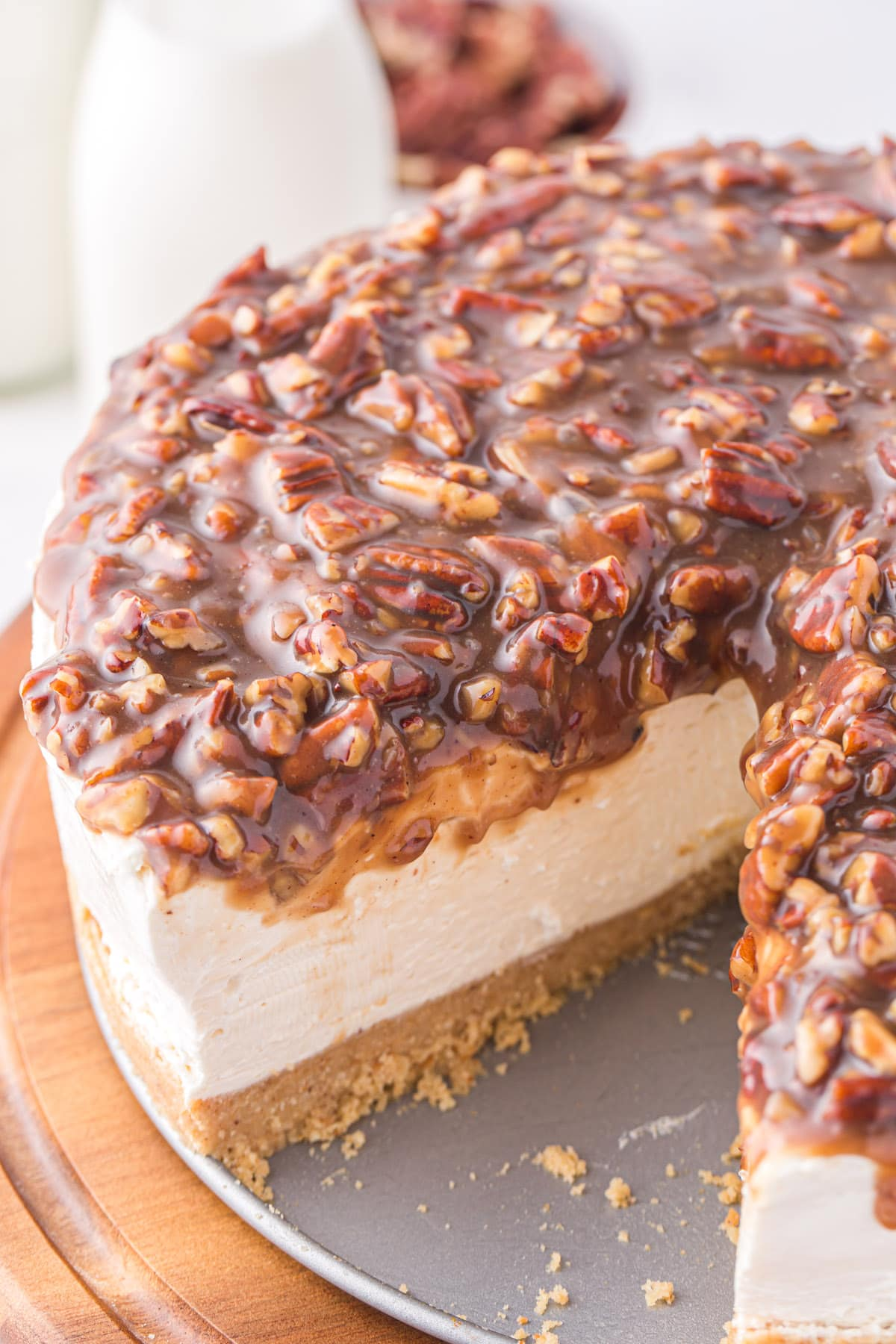 pecan pie cheesecake hero image