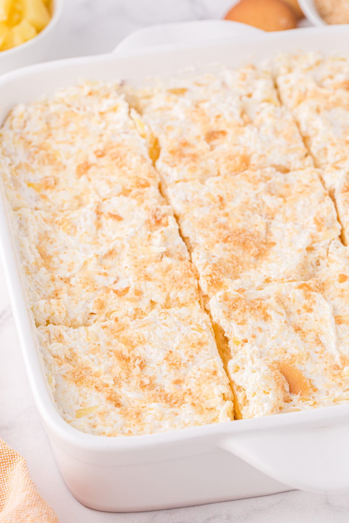 pineapple delight in a baking pan