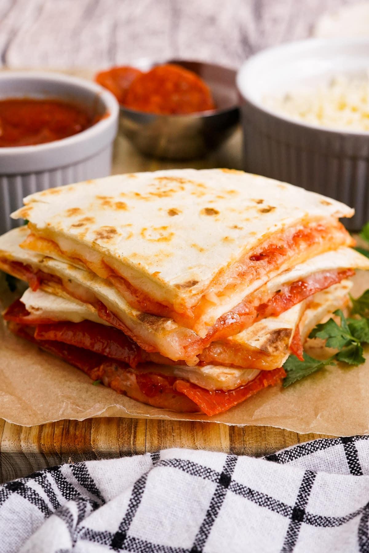 Pizza Quesadillas hero image