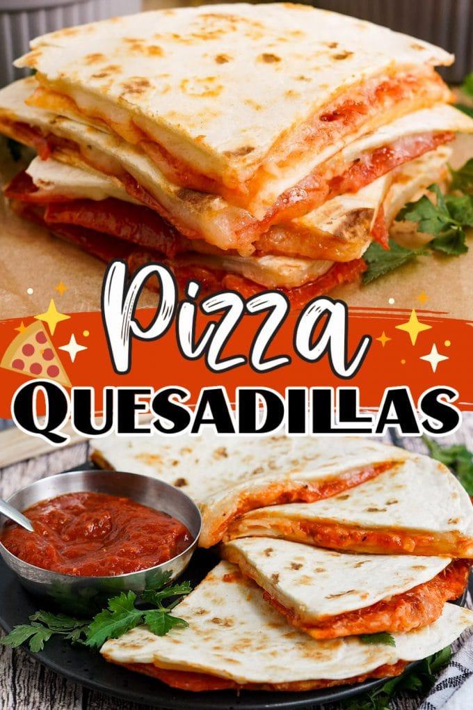 Pizza Quesadillas pinterest
