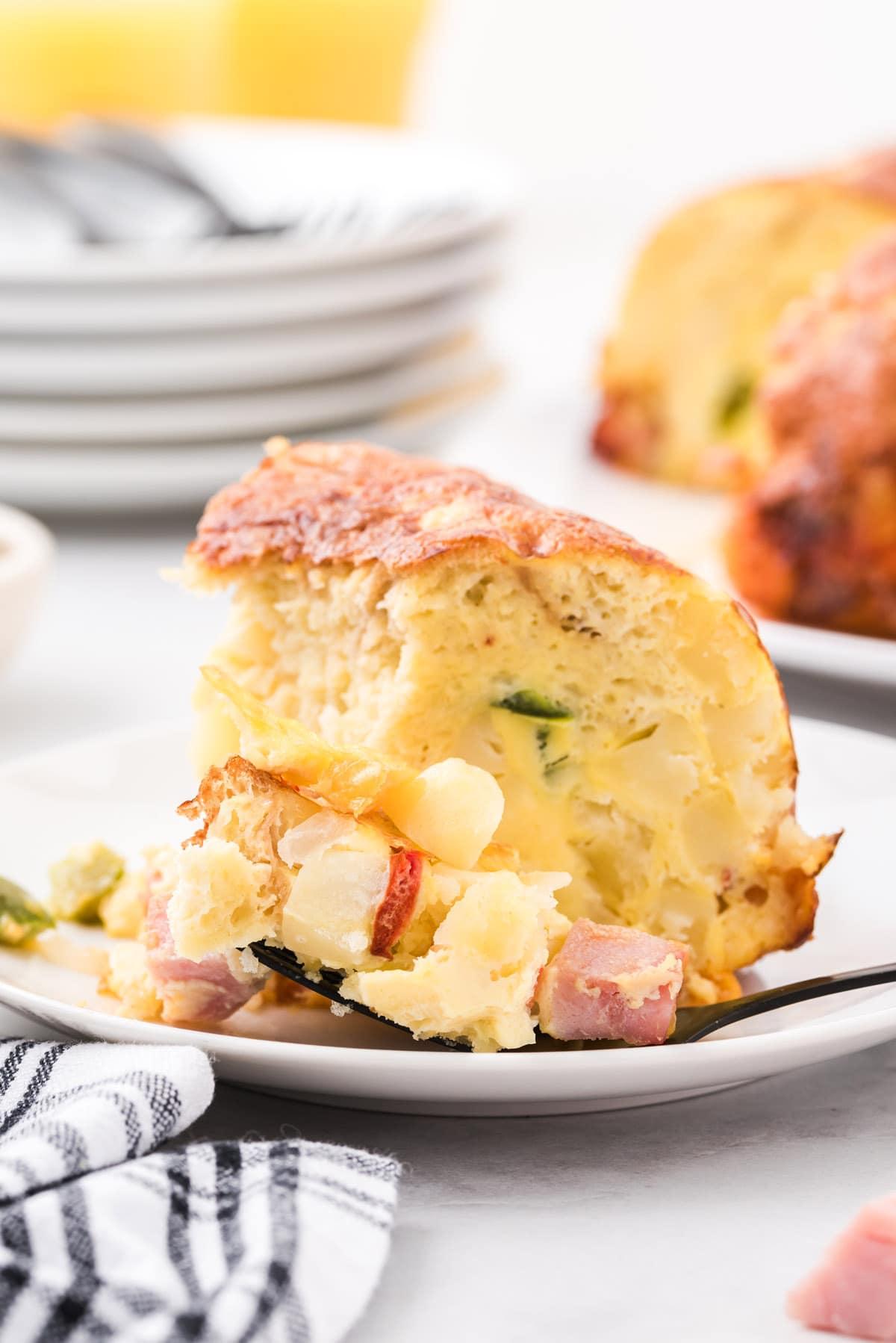 breakfast bundt cake on a plate