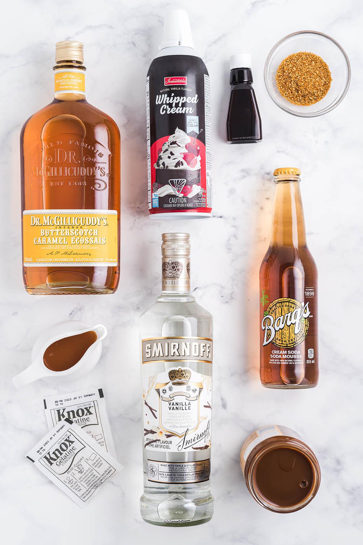 butterbeer jello shots ingredients