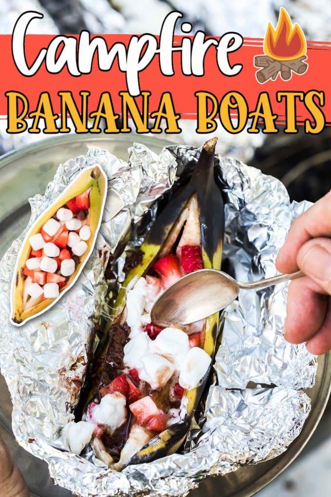 Campfire Banana Boats pinterest
