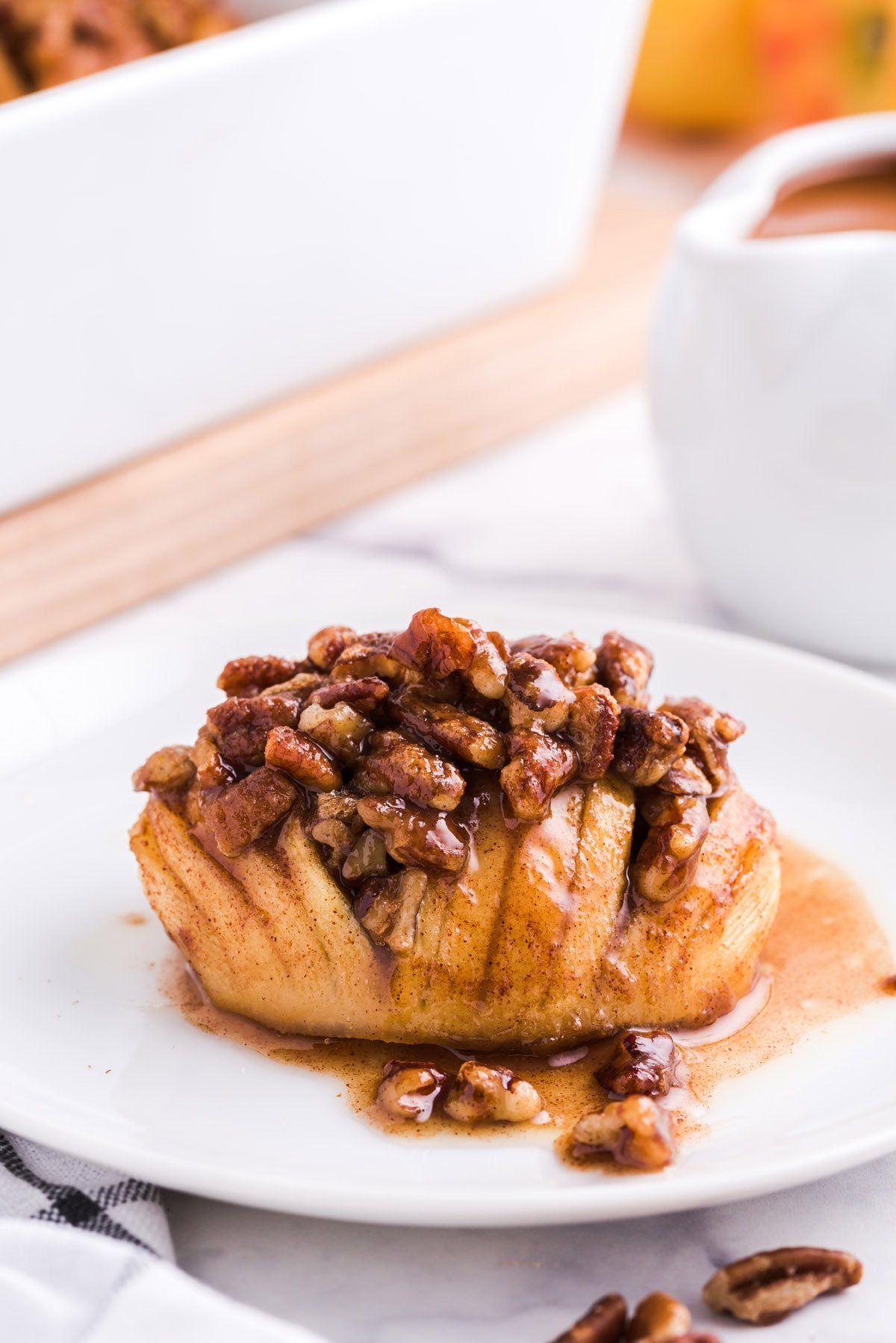 hasselback apples on a plate