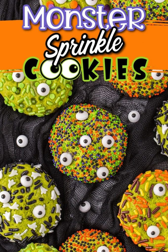 Halloween Monster Sprinkle Cookies pinterest