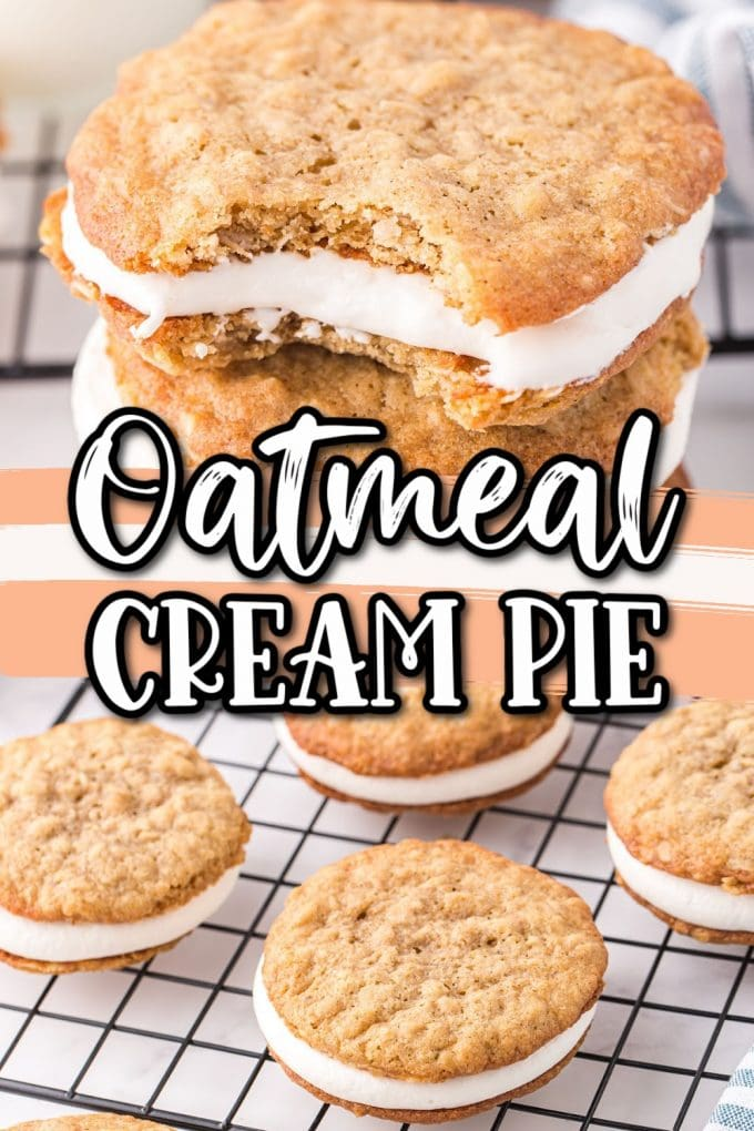 Homemade Oatmeal Cream Pie (Copycat Little Debbie Recipe) pinterest