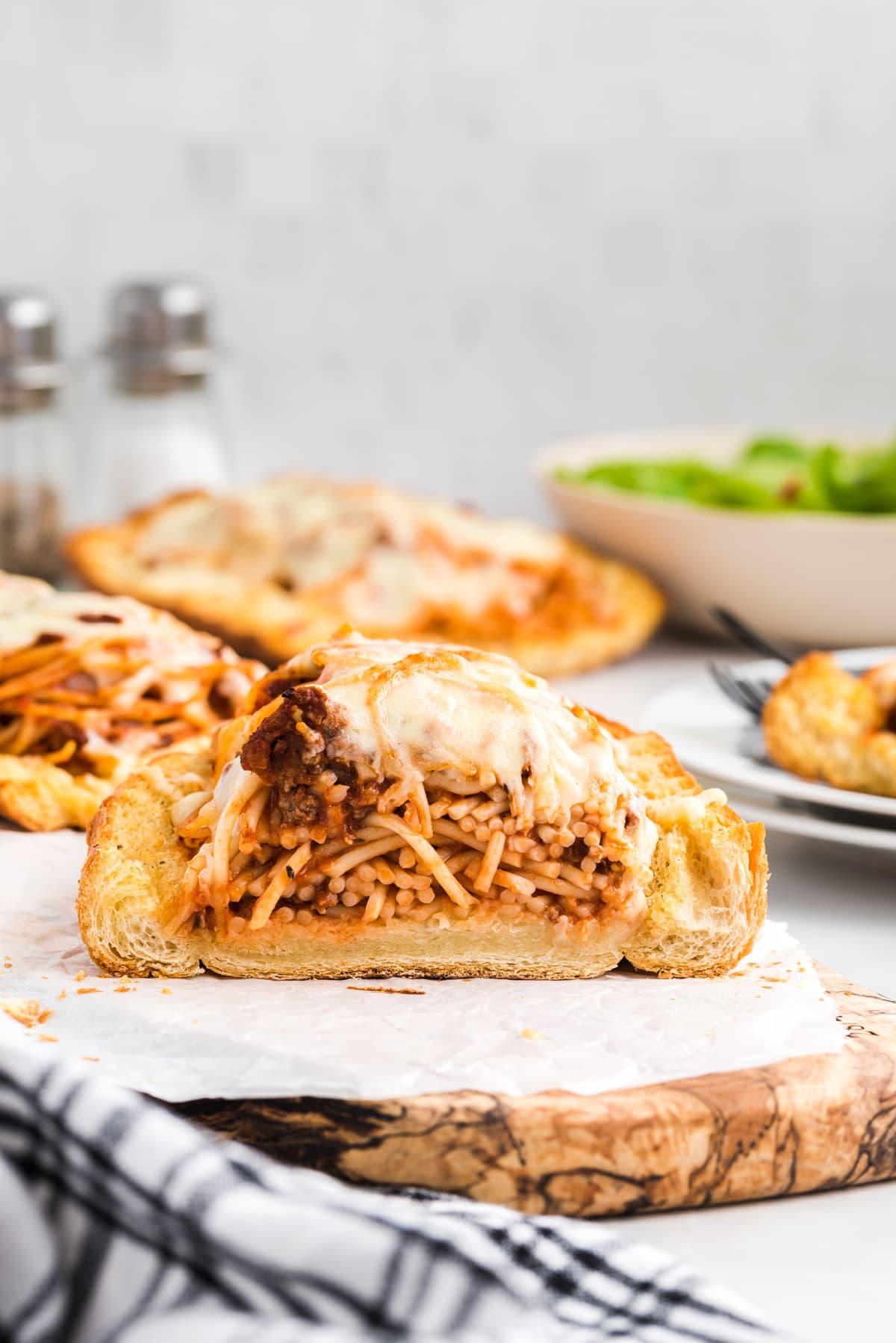 Spaghetti Stuffed Garlic Bread hero image