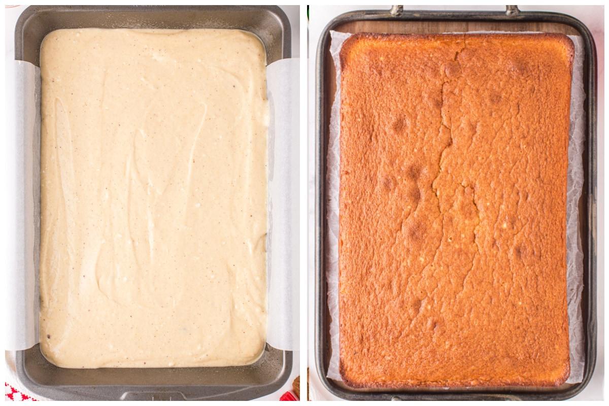 Pour batter into baking pan