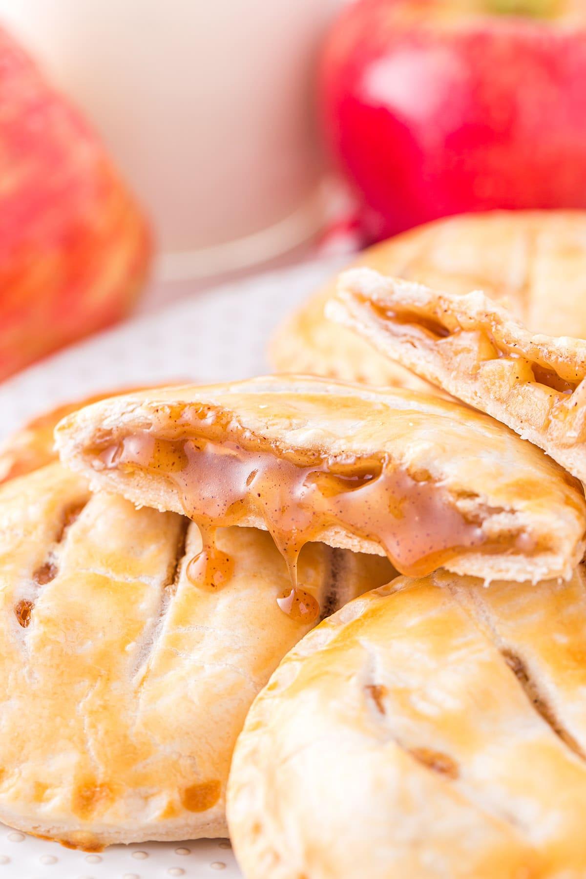 caramel apple hand pies hero image