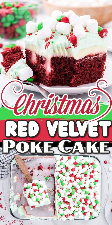 Christmas Red Velvet Poke Cake pinterest