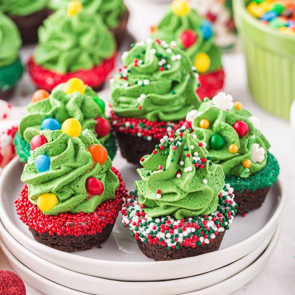 Christmas Tree Mini Cookie Cups