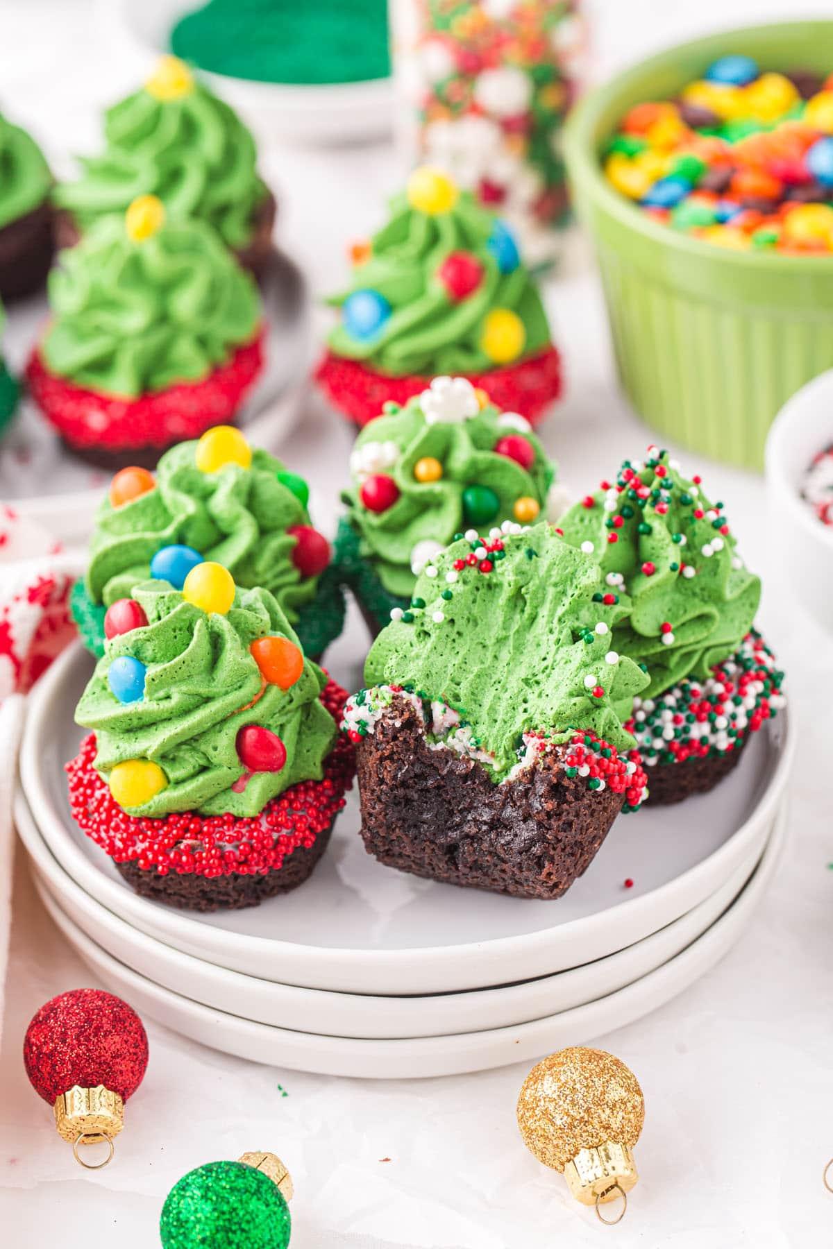 christmas tree mini cookies cups